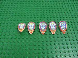 5x-LEGO-White-Ovoid-Shield-Minifigure-Weapon-w-Islanders-Mask-Pattern-6278-6292