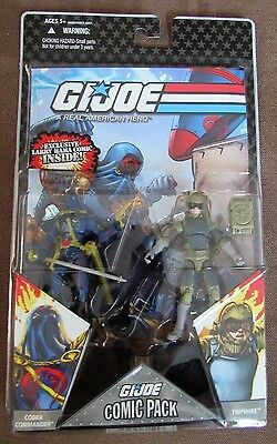 GI Joe Comic Pack Cobra Commander /& Tripwire Action Figures MIB 25th Anniversary