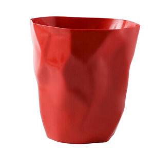 Mini Trash Can Tabletop Ashtray Waste Basket Living Room Kitchen Hotel Red