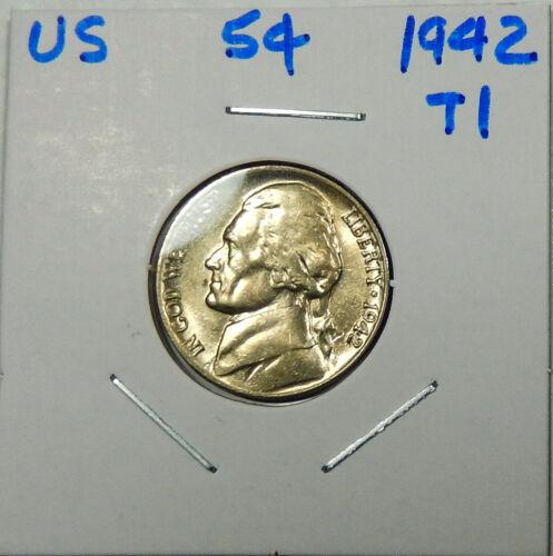 1942 Type 1  Jefferson Nickel  Uncirculated  Better Date