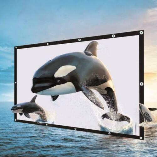 Beamer Leinwand Rolloleinwand Full-HD Heimkino Rollo Präsentationswand Projektor