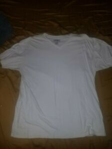 Champs-Sports-White-Shirt-Large-V-Neck