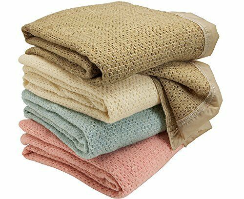100% Pure Washed Wool Cellular Blankets in Various Colours and Größes