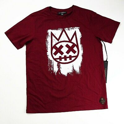 Cult of Individuality Mens Crew Shimuchan Logo in Burgundy