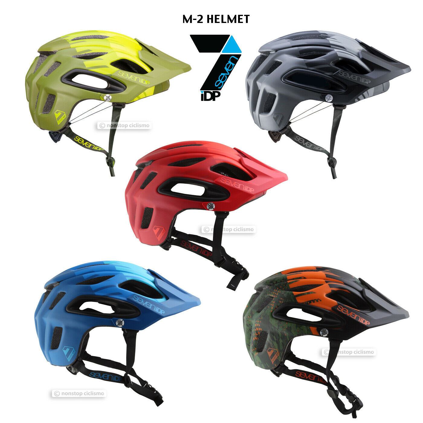 7iDP 2019 M-2 MTB Mountain Bike Cycling Helmet   ALL COLORS - NEW IN BOX