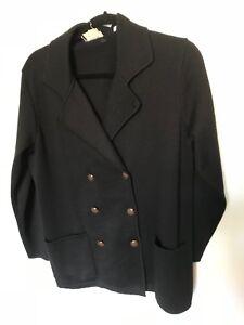 Bill Sort Uld Størrelse Sweatercoat Blass M Vintage PqCaHwnzC