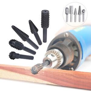 5pcs Rotating Burr Grinding Head Premium Rotary File Rasp For Woodworking Tools