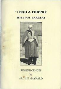 William-Barclay-Reminiscences-by-Archie-Maynard-paperback-2002