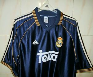 Real-Madrid-Away-shirt-adidas-XL-1999-00-UVGC-MCMANAMAN-8-on-the-back