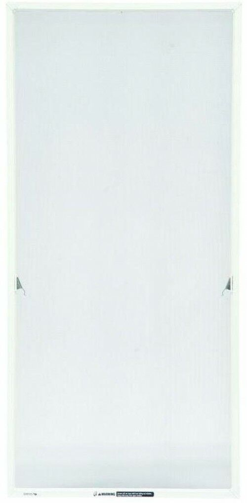 17.06 x 36.34 in White Casement Window Aluminum Mesh Screen Insect Predector Net