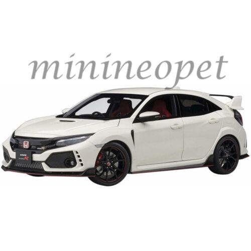 AUTOart 73266 2017 HONDA CIVIC TYPE R FK8 1//18 CHAMPIONSHIP WHITE