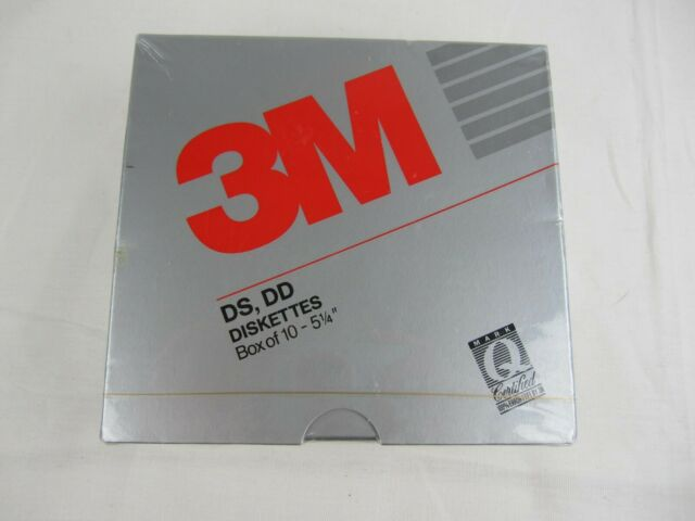3M Imation Diskettes 5 1//4 10 per package Double Sided High Density