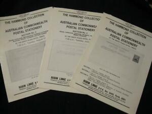 """Inventif 3 Robson Lowe Auction Catalogues Australian Commonwealth """"hammond"""" Collection-afficher Le Titre D'origine"""