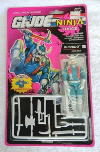 1992 GI Joe GIJOE NINJA FORCE BUSHIDO snow ninja Figure BRAND NEW ON CARD