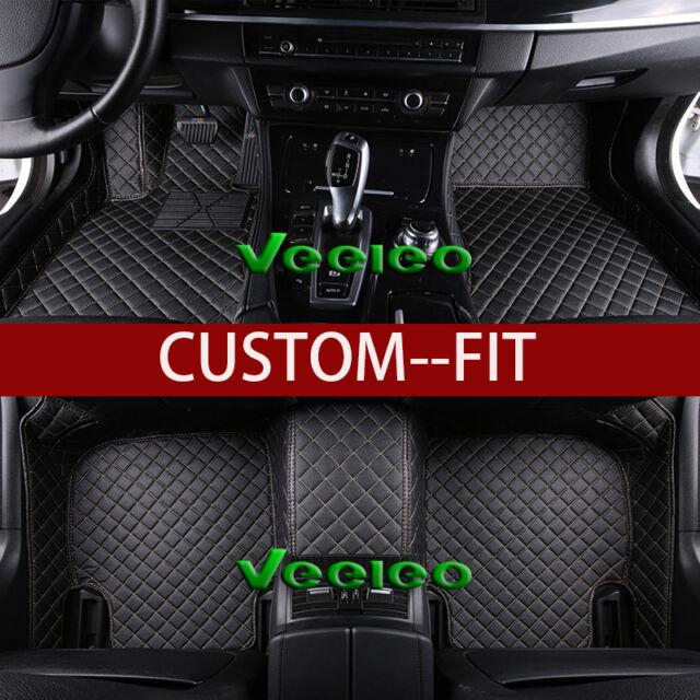8 Colors Leather Car Floor Mats for Tesla Model-S /X -5 seats 2009-2016 Carpets