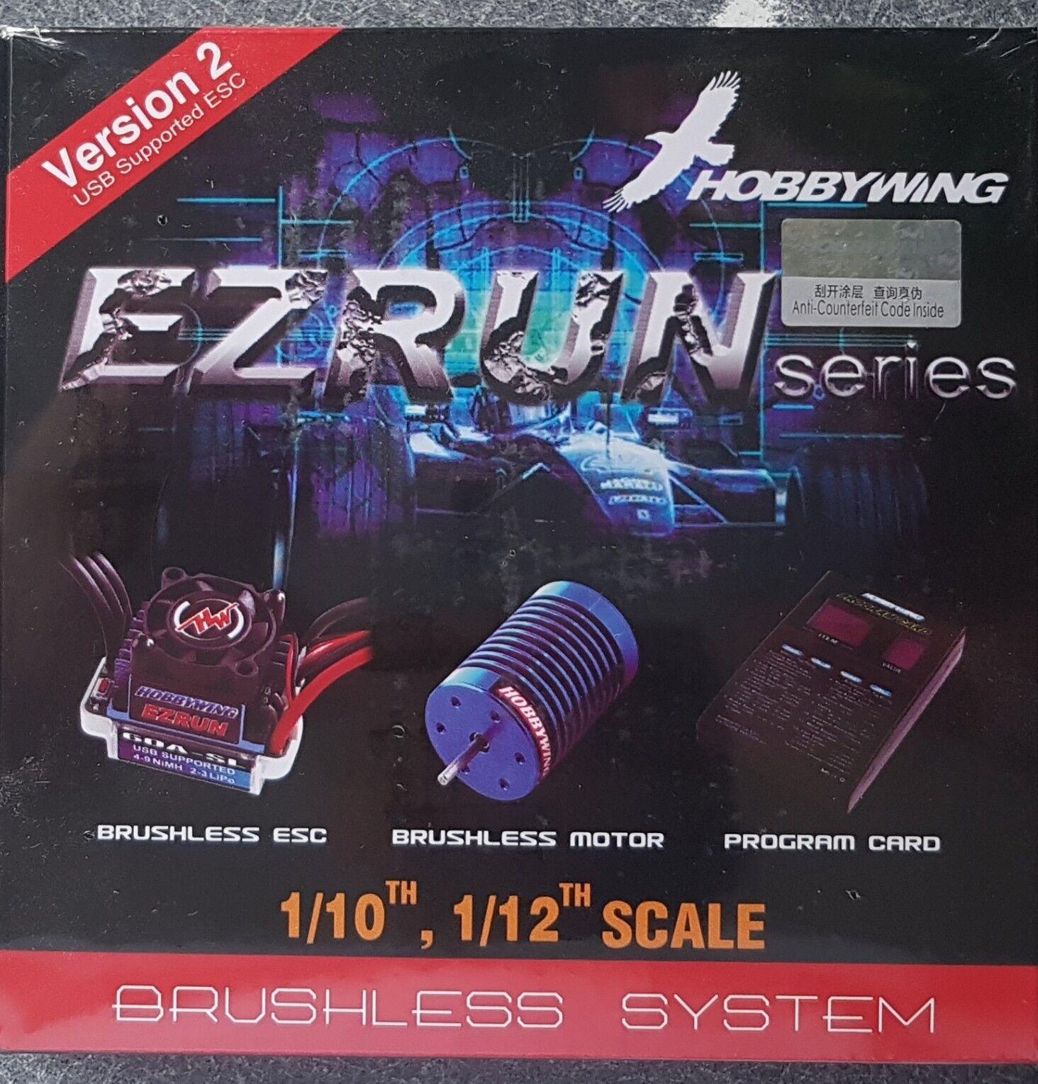 HOBBYWING 18 AMP 12T 7800KV EZcorrere COMBO GENUINE SEALED PRODUCT   a buon mercato