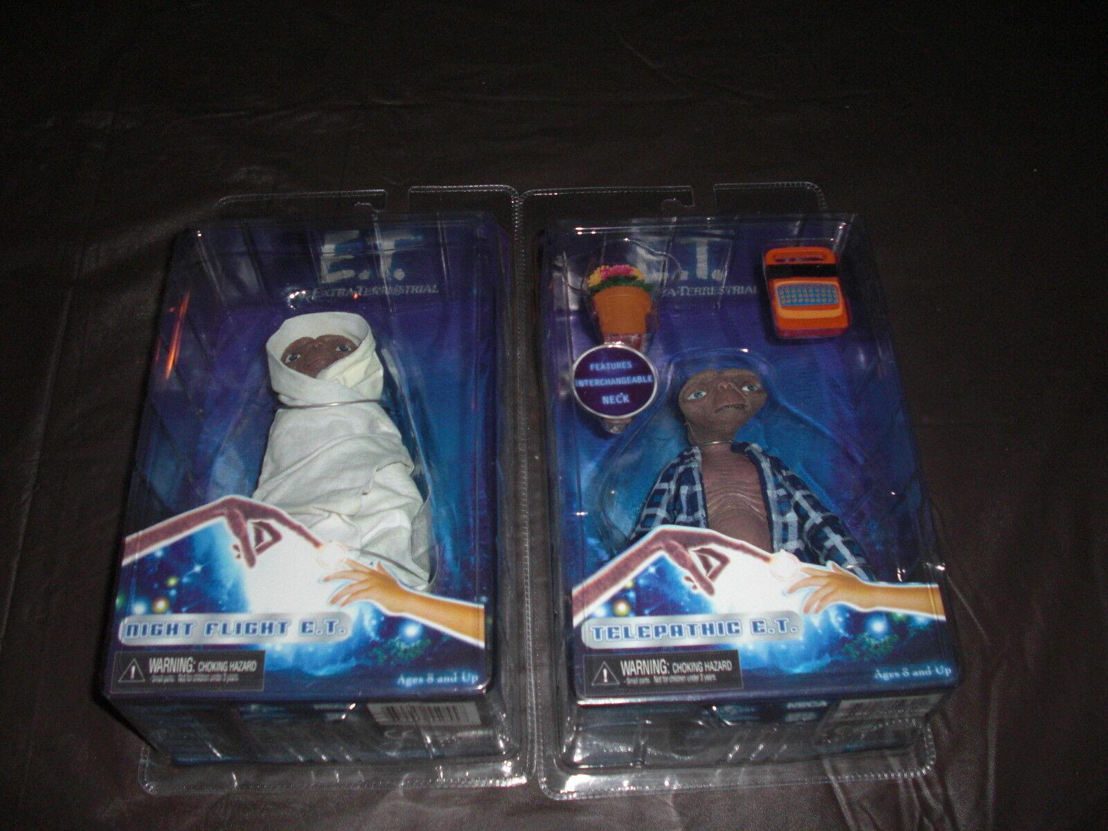 NECA E.T. SERIES 2 NIGHT FLIGHT E.T. AND TELEPATHIC E.T. SET OF 2 FIGURES MISP