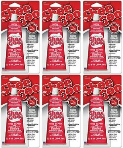 6 shoe goo 110011 clear adhesive glue 3 7oz for leather