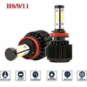 2x 4-Side H11 240W 32000LM LED Headlight Kit Low Beam Fog Lamp Bulb Canbus 6500K