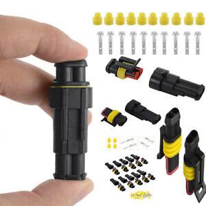 2-polig-Superseal-Stecker-Steckverbindung-Wasserdicht-Auto-KFZ-Boot-LKW-10-Set