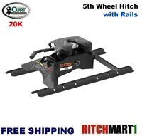 20k Curt A20 5th Fifth Wheel Trailer Hitch With Universal Rails 16141
