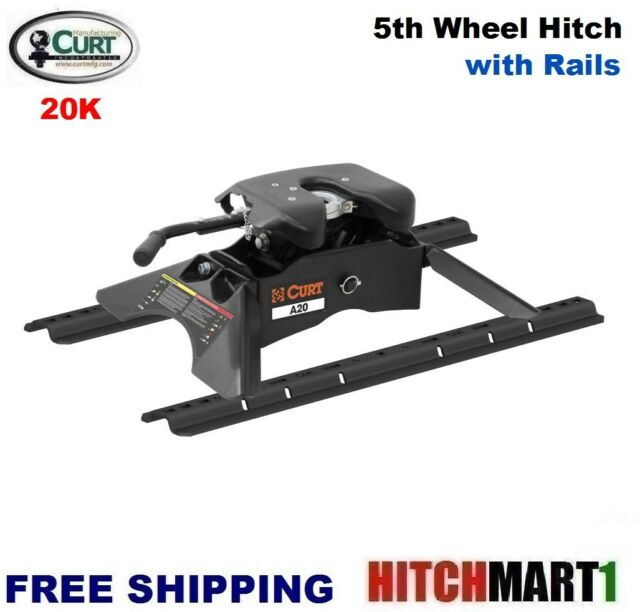 Curt Fifth Wheel Hitch >> 20k Curt A20 5th Fifth Wheel Trailer Hitch With Universal Rails 16141