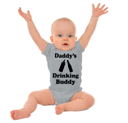 Daddys Drinking Buddy Funny Shower Gift Infant Gerber Onesie Baby Bodysuit