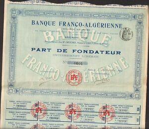 Selten => Banque Franco = Algerische (algerien) (t) Zu Hohes Ansehen Zu Hause Und Im Ausland GenießEn