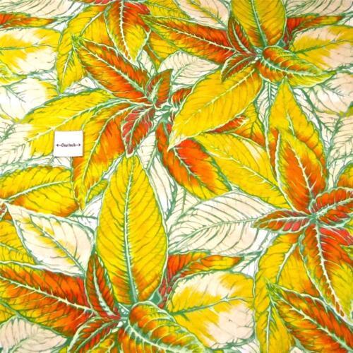 Gorgeous Hawaiian Print Lau Lau Gold /& Yellow on White Per 1//2 Yd