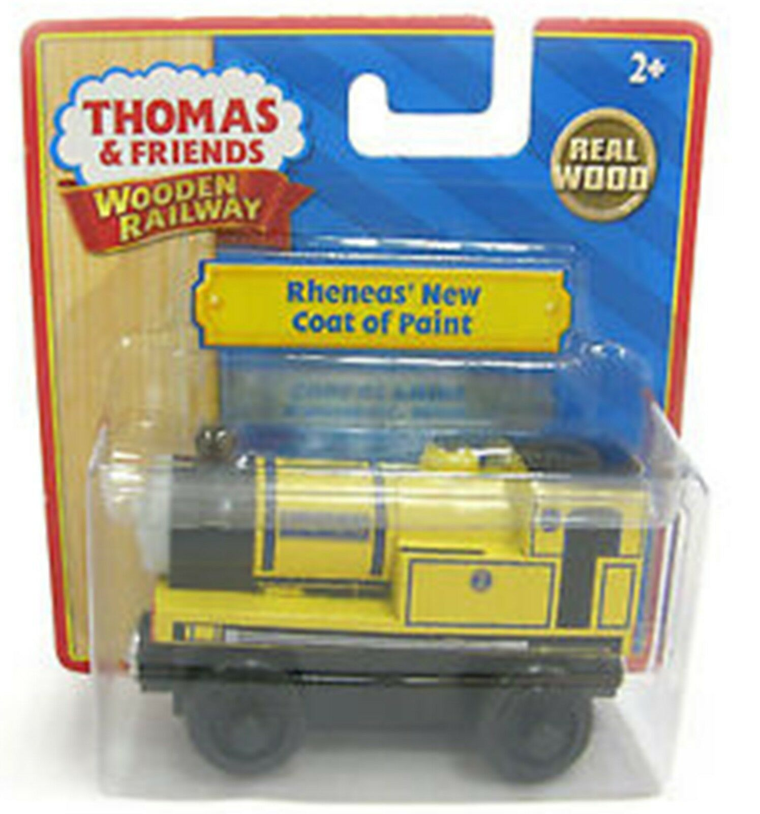 THOMAS & FRIENDS WOODEN RAILWAY   RHENEAS' NEW NEW NEW COAT OF PAINT  LC98175 MINT 3259a1
