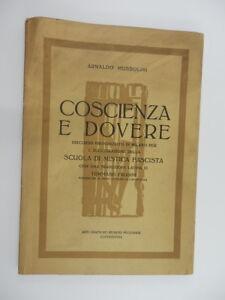 COSCIENZA-E-DOVERE-Arnaldo-Mussolini-1940-Capodistria-scuola-Mistica-fascista
