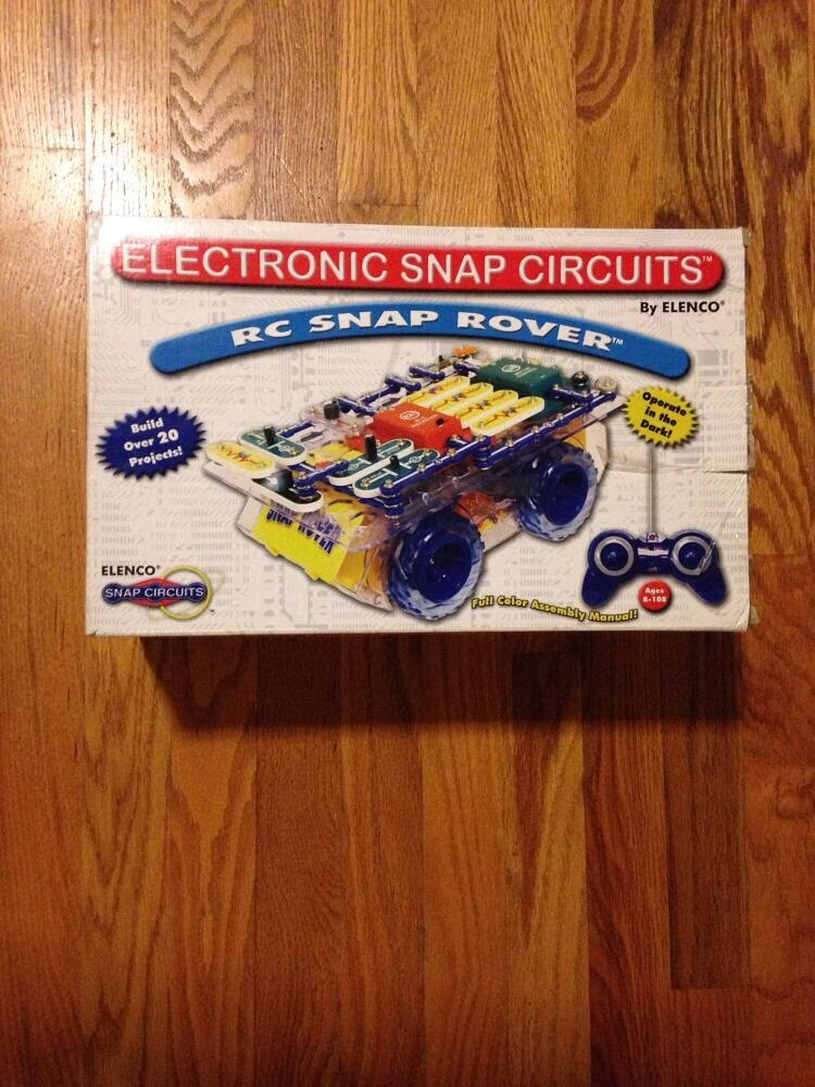 ELENCO ELECTRONIC SNAP CIRCUITS RC SNAP ROVER SCROV-10 Projects Science Toy Rare