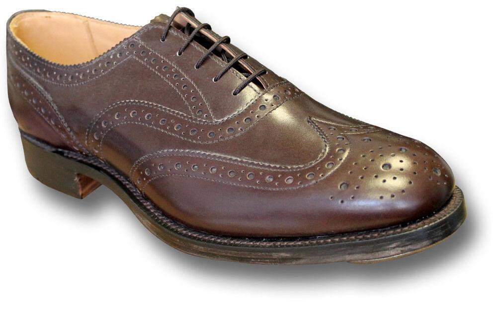 Sanders uk-made Cuero Highland zapato bajo de cuero zapatos, marrón [ 70949 Brn ]