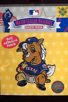 Energisch Mlb Texas Rangers Baby Maskottchen Abzeichen Sticky Rückseite 2014 Fanartikel