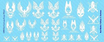 Halo Unité Logos-Waterslide Decals 1//6 Scale Decals
