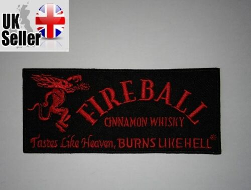 Fireball whiskey Iron-on//sew-on Embroidered Patch Motorcycle Biker Kawasaki