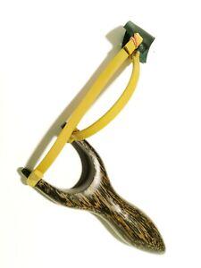 Vintage Slingshot Natural Wood Handle Thai Catapult Air Gun Kid Hunting PlayIng