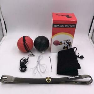 Box-Punch-Ubungskampf-Ball-amp-Kopfband-fuer-Reflex-Speed-Training-Boxing-Gift