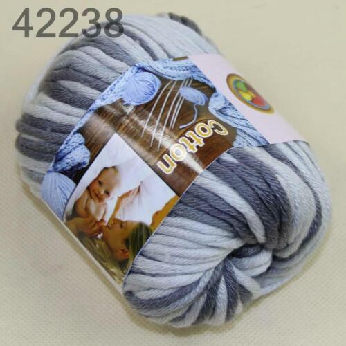 Sale 1Skein x50gr Soft Cotton Chunky Super Bulky Hand Knitting Crochet Yarn 38