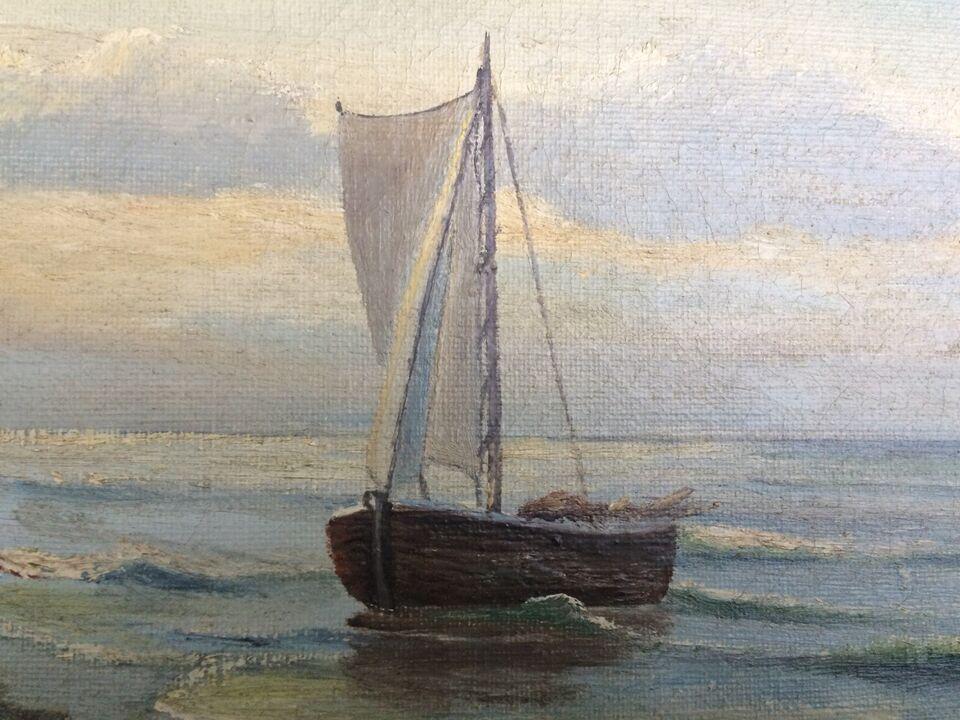 Oliemaleri, F. Schmit, motiv: Landskab