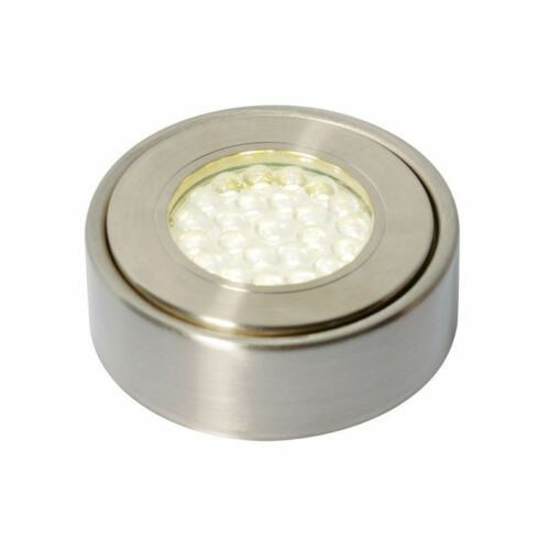 Laghetto DEL Circulaire DEL Cabinet lumière 1.5 W Nickel satiné blanc froid 21625