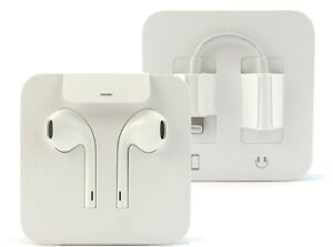 OEM-Apple-Lightning-Earpods-Earphone-Headset-amp-3-5mm-Adapter-iPhone-X-8-7-7