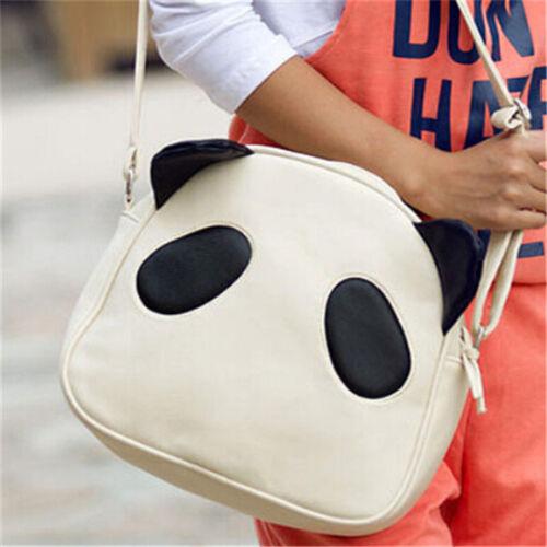 New Women Lovely Panda PU Leather Hobo Purse Handbag Shoulder Bag Tote