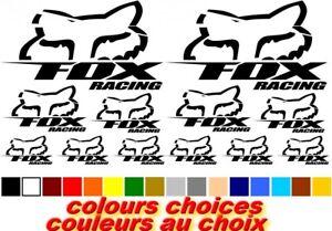 Fox Racing X12 Adhesif Vinyl Decal Stickers Sheet Bike Cycle Cycling Bicycle Mtb Effet éVident