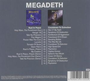 """MEGADETH """"CLASSIC ALBUMS: COUNTDOWN TO EXTINCTION/RUST IN PEACE(2IN1)"""" 2 CD NEW+ 5099970475524"""