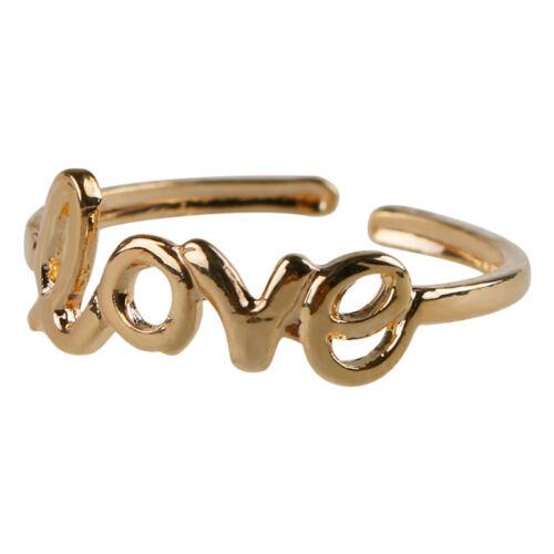 Women Fashion Toe Ring Simple Love Open Adjustable Foot Jewelry Beach XBUKDLUK