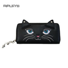 BANNED Clothing Black Wallet Purse   CARMEN Cute Black Cat Face