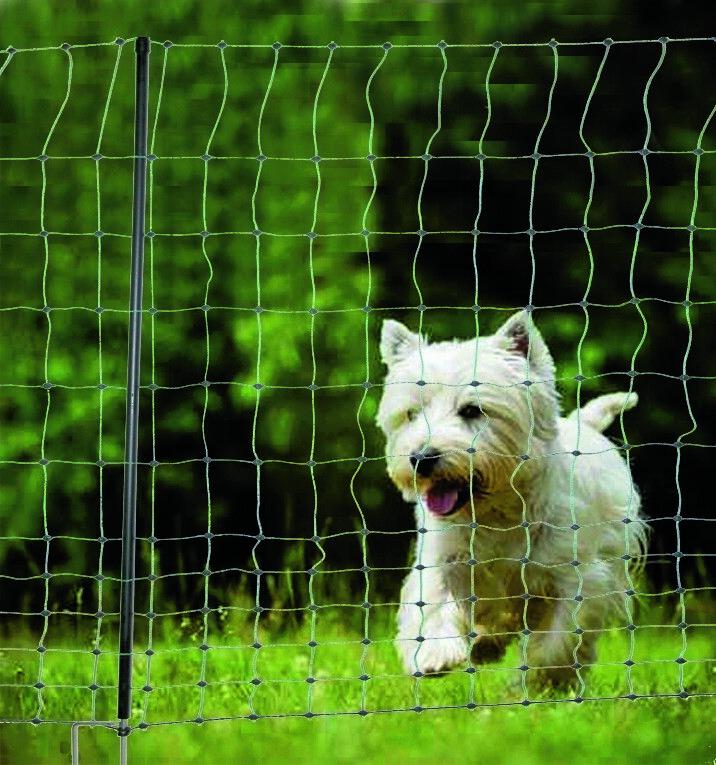 Geflügelzaun Hundezaun 105cm 25m Geflügelnetz Hühnerzaun Hund elektrifizierbar