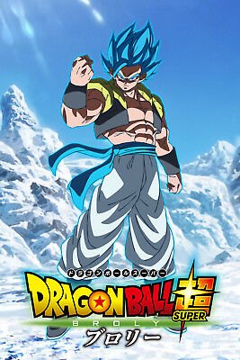 Dragon Ball Super Broly Movie Gogeta Blue Fist Poster 12inx18in Free Shipping Ebay