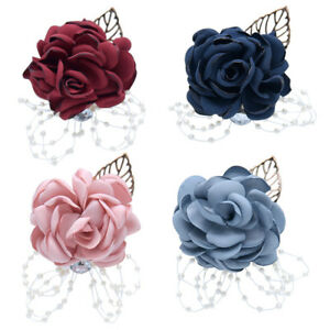Flower-Wrist-Corsage-Pearl-Bead-Bracelet-Wedding-Prom-Party-Bridesmaid-Decor-W